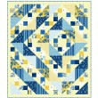 "Provencial Labyrinth Blue Quilt by Heidi Pridemore /58""x67"""