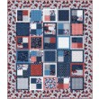 "fat Quarter Four-Patch land that I love quilt by Swirly Girls Design 62""x72"""