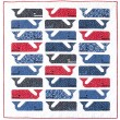 "Preppy The Whale Quilt  by Elizabeth Hartman /47""x50"""