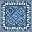 "Sailor's Valentine Blue Quilt by Marsha Moore /55.5""x55.5"""