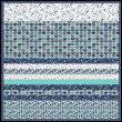 "Sassy Cats Blue -MINKY Strip Quilt /58x58"""