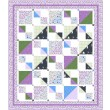 "Savannah Squares Lilac Quilt by Kate Colleran of Seams Like a Dream /65""x75"""