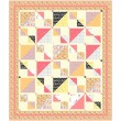 "Savannah Squares -Sorbet Quilt by Kate Colleran of Seams Like a Dream /65""x75"""