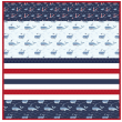 Whales of a Fun Time -MINKY Strip Quilt /58x58""