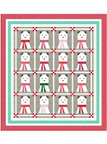 "MINKY A Beary Christmas Quilt by Wendy Sheppard / 72.5""x80.5"" - Pattern will be available in June"