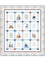 "A Cat's Life Quilt by Wendy Sheppard /63""x71"" - Instructions Coming Soon"