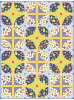 """Courtyard - A Bushel and a Peck quilt by everyday stitches -64""""x85"""""""