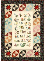 """Alphabet Soup Quilt by Charismas Corner /48""""x68"""""""