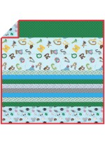 Animal Scatter - Minky Strip Quilt /58x58""