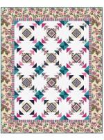 """Provencial April in Paris Cream Quilt by Heidi Pridemore /57.5""""x71.5"""""""