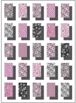 """Shadow Boxes Quilt - Pink Art Nouveau by ladeebug Design 52""""x72"""""""