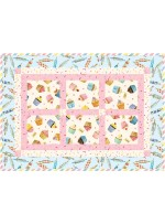 """Simply Framed 4 Placemats - Bake Sale quilt by pine rose designs - 20""""x14"""""""