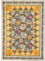 """Balinese Flowers Quilt by Denise Russell of Pieced Brain /46.5""""x64-3/4"""" - Instructions Coming Soon"""