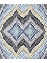 "Strata Bargello Graphite Quilt by Carl Hentsch of 3dogdesignco  /83-3/4""x94"""