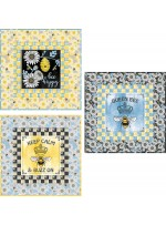 "Bee Happy Mini Quilt Quilt by Susan Emory /20""x20"""