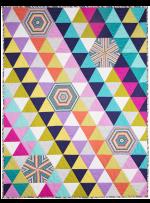 "Bias Tile Quilt by Marinda Stewart / 43""X57"""
