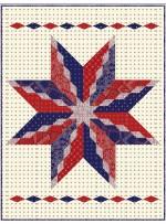 "Big Star Diamond Quilt by Hunter's Design Studio / 52"" x 68"""