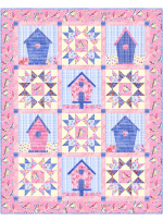 """Tenants Welcome Birdsong Quilt by Marsha Evans Moore - 43-1/2""""x55-1/4"""" - free pattern available in November"""
