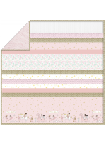 "Blossom Magical Parade - Strip Quilt /58""x58"""