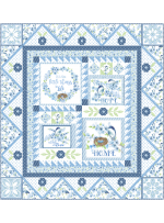 """Blessings Bluebird Quilt by Marsha Evans Moore - Pattern available in November - 54""""x58"""""""