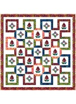 "Bustling Bazaar Quilt by Natalie Crabtree / 75-3/4""x75-3/4"" - Instructions Coming Soon"