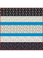 """Camping Life MINKY Strip Quilt 57""""x57""""- Free Pattern Avavilable in August"""