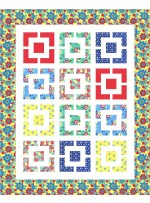 "Chatterbox Quilt by Susan Emory  /58""x72"""