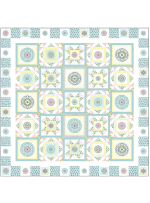 Circle Patch Confection by Heidi Pridemore /75x75""