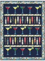 "Cocktail Hour Quilt Natalie Crabtree /59""x79"" - Instructions Coming Soon"