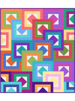 """All Stacked Up - Coco Quilt by Colourwerx 57""""x65"""""""