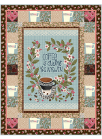 "The Pefect Cup Quilt by Marsha Evans Moore42.5""x54.5"" - Pattern available in August, 2021"