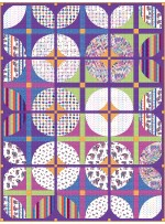 """Courtyard - Colorforms Quilt by Everyday Stitches 64""""x85"""""""