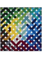 "Criss Cross Quilt by Emily Herrick /60""x60"""