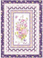 "Delicate Beauty Lilac Quilt by Wendy Sheppard /52""x72"""