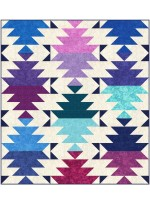 "Krystal Desert Sky Quilt by Jessica Vanderburgh of Sew Many Creations /54""x60"""