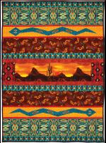 """Desert Night Sunset Quilt by Marinda Stewart / 40""""x57.5"""""""