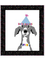 "Dog Show Portrait Quilt by Susan Emory  /38""x44"""