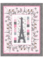 "Eiffel Tower Quilt by Wendy Sheppard /49""x61"""
