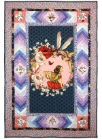 "Elderberry Flower Fairies Panel Quilt by Marinda Stewart /41""x60"""