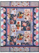 "Elderberry Flower Fairies Collage  Quilt by Marinda Stewart /42""x55"