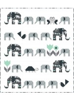 """Elephant Parade Quilt by Heidi Pridemore /48""""x55"""" - Instructions Coming Soon"""