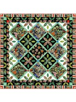 """tropical enchantment - exotica by marsha evans moore /72.5""""x72.5"""" - free pattern available in february, 2022"""