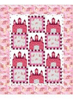"Fairy Tales Pink Quilt by heidi pridemore /64""x79"""