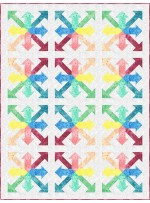 """Rainbow Arrows -fairy Frost Quilt by Flying Parrot Quilts 44""""x58"""""""