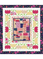 "Feng Shui Floral Quilt by Wendy Sheppard /46""x52"""