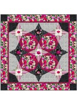 "Floral fantasy Quilt by Stephanie Sheridan /57""x57"" - Instructions Coming Soon"