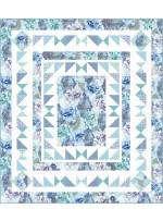 Flower Burst Quilt - Blue by Heidi Pridemore