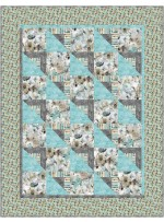 """Shady Character Frieze Frame Quilt by Swirly Girls Deisgn - 54""""x74"""""""
