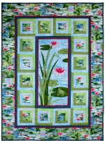 "Frog prince Quilt by Marinda Stewart /40""x54"" - Instructions coming soon"