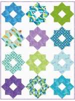 "Garden Delight Aqua Quilt by Susan Emory /54""x72"""